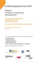 Fortbildungstag Deutsch 2017