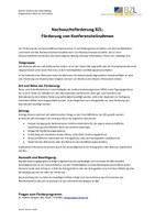 Nachwuchsförderung im BZL: Förderung von Konferenzteilnahmen